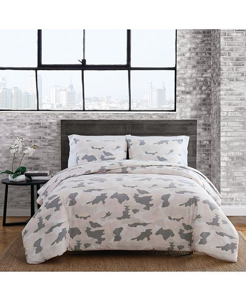 Sean John Garment Washed Camo Full/Queen Duvet Set
