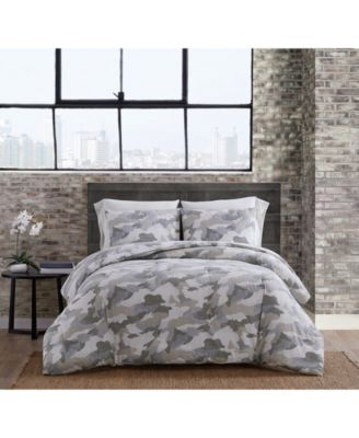Garment Washed Camo Twin Extra Long Comforter Set