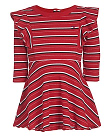 Baby Girls Striped Ribbed Dress