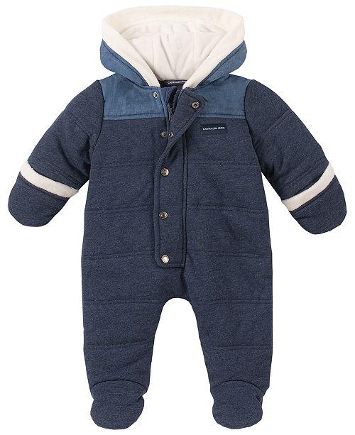 Calvin Klein Baby Boys Faux-Fur Trim Pram