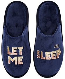 Women's Microvelour Let Me Sleep Slippers, Created For Macy's