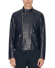 Men's Faux-Leather Jacket
