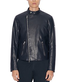 A|X Armani Exchange Men's Faux-Leather Jacket