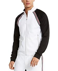 Men's Regular-Fit Colorblocked Full-Zip Logo Sweatshirt