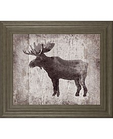 "Wildness Iv-Timber by Sandra Jacobs Framed Elk Print Wall Art - 22"" x 26"""