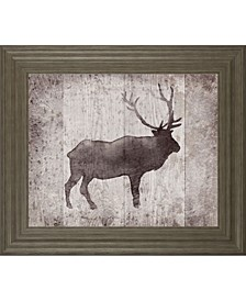 "Wildness III-Timber by Sandra Jacobs Framed Caribou Print Wall Art - 22"" x 26"""