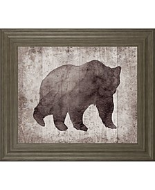 "Wildness I-Timber by Sandra Jacobs Framed Grizzly Print Wall Art - 22"" x 26"""