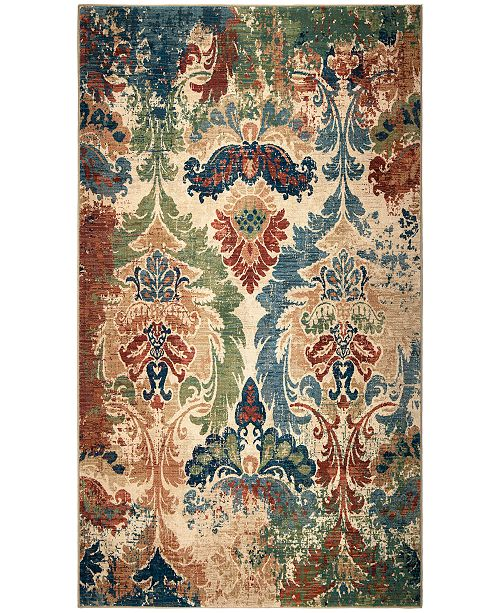 Palmetto Living Alexandria Distressed Hearst White Area Rug Collection