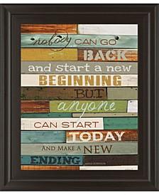 "Make A New Ending by Marla Rae Motivational Framed Print Wall Art - 22"" x 26"""