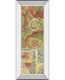 """Moroccan Whimsy Il by Karen Deans Mirror Framed Print Wall Art - 18"""" x 42"""""""