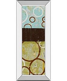 "Sun Flower II by Natalie Avondet Mirror Framed Print Wall Art - 18"" x 42"""