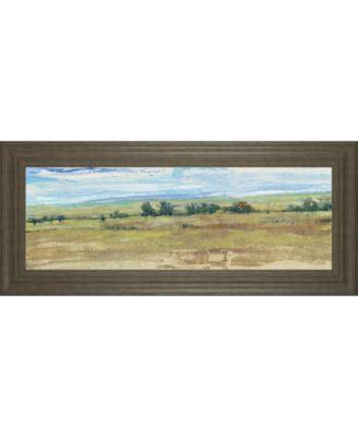 "Distant Treeline Panel I by Tim Otoole Framed Print Wall Art - 18"" x 42"""