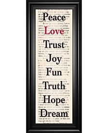 """Inspiration I by The Vintage - Like Collection Framed Print Wall Art - 18"""" x 42"""""""