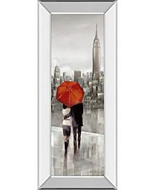 "New York Stroll by Ruanne Manning Mirror Framed Print Wall Art - 18"" x 42"""