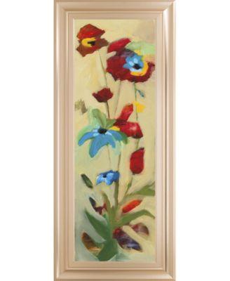 "Wildflower Il by Jennifer Zybala Framed Print Wall Art - 18"" x 42"""