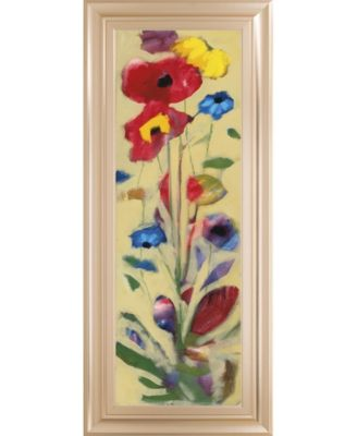 "Wildflower I by Jennifer Zybala Framed Print Wall Art - 18"" x 42"""