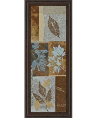 "Blue Fusion Panel I by Jeni Lee Framed Print Wall Art - 18"" x 42"""