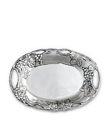 Designs Aluminum Grape Oval Tray
