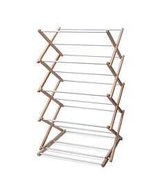 Premium Classic Wooden Adjustable Clothes Drying Rack