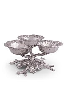Designs Aluminum Grape Tiered 3-Bowls
