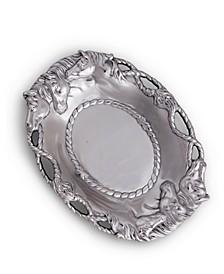 Designs Aluminum Horse Oval Tray