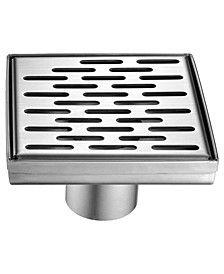 Modern Square Stainless Steel Shower Drain with Groove Holes