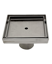 Modern Square Stainless Steel Shower Drain without Cover