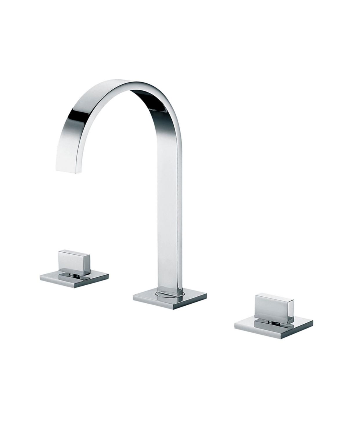 Alfi brand Polished Chrome Gooseneck Widespread Bathroom Faucet Bedding