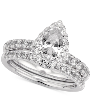 Gia Certified Diamond Pear Bridal Set (1-1/2 ct. t.w.) in 14k White Gold