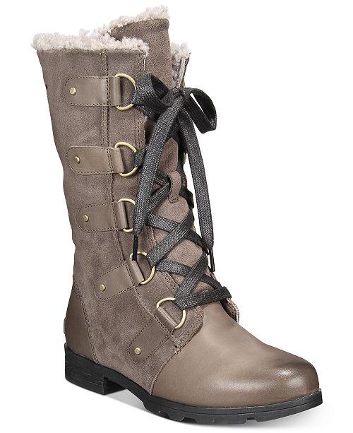 Sorel Women's Emelie Lace-Up Waterproof Boots