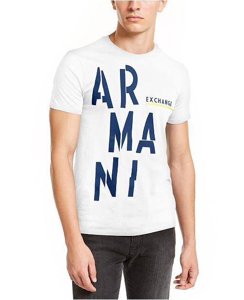 A|X Armani Exchange Men's Oversized Logo Graphic T-Shirt