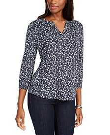 Floral-Print Shirred Top, Created For Macy's