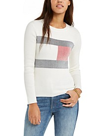 Logo Ribbed-Knit Sweater, Created for Macy's