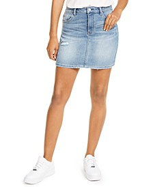 Juniors' Distressed Mini Skirt
