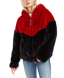 Hooded Faux-Fur Teddy Jacket, Created For Macy's
