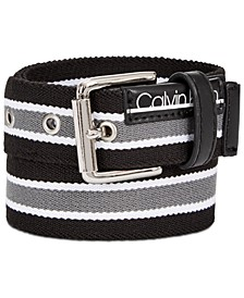 Big Boys Striped Flat-Strap Belt