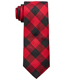 Big Boys Classic Buffalo Check Silk Tie