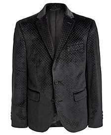 Big Boys Classic-Fit Black Dot-Print Sport Coat