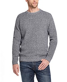 Men's Solid Mesh Stitch Sweater