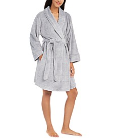 Women's Embossed Logo Plush Robe