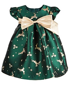 Baby Girls Reindeer Jacquard Trapeze Dress