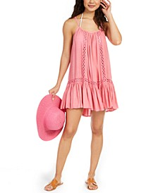 Crochet-Trim Cover-Up Dress