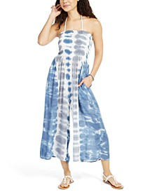 Tie-Dye Strapless Smocked Cover-Up Jumpsuit, Created For Macy's