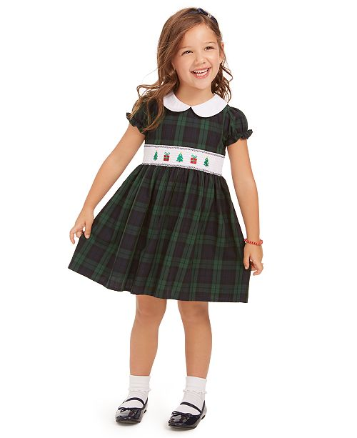 Good Lad Little Girls Plaid Holiday Dress