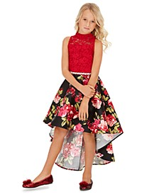 Big Girls Lace High-Low Dress