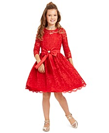 Big Girls Lace Bow Dress