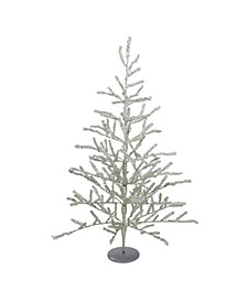 3' Silver Tinsel Twig Artificial Christmas Tree - Unlit