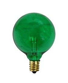 Pack of 25 Incandescent G50 Green Christmas Replacement Bulbs