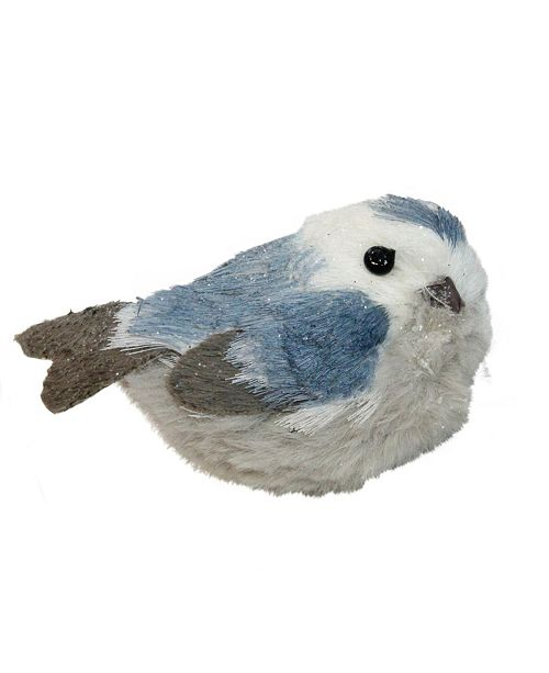 "Northlight 4.5"" Resting Blue Bird Christmas Table Top Decoration"