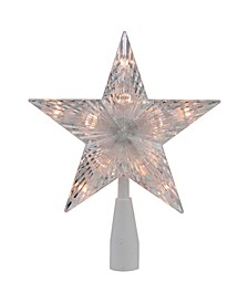 """ Traditional 5-Point Star Christmas Tree Topper - Clear Lights"